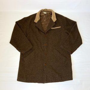 Territory Ahead Brown Wool Overcoat Barn Coat XL